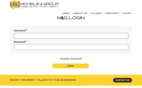 Screenshot of Login Page micheleandgroup.com - Michele and Group - captured Jan. 10, 2016