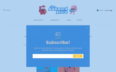 Screenshot of Press Page theawkwardstore.com - Newsletter Signup                         – the Awkward Store - captured Oct. 23, 2018