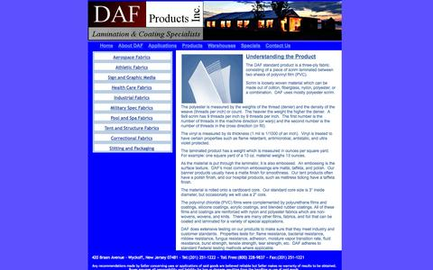 Screenshot of Products Page dafproducts.com - DAF Products - Understanding the Product - captured Oct. 1, 2014