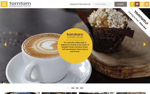 Screenshot of Home Page tomtom.co.uk - Tomtom cigars & coffee in London - captured Nov. 4, 2017