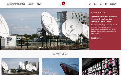 Screenshot of Press Page sislive.tv - News & Blogs - SIS LIVE - captured July 26, 2018