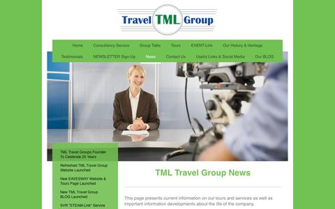 Screenshot of Press Page tml-travel-group.com - News - Current - TML TRAVEL GROUP - - captured Dec. 6, 2016