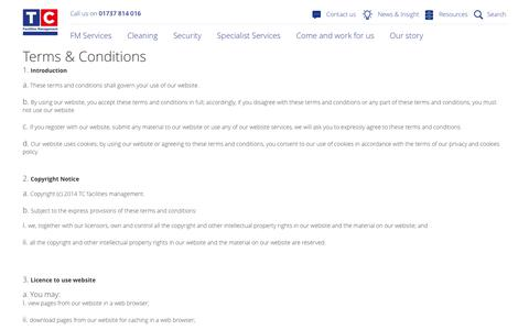 Terms & Conditions - TC Facilities Management