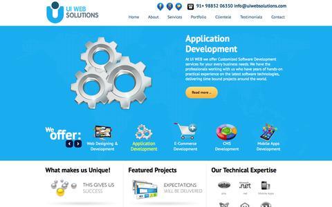 Screenshot of Home Page uiwebsolutions.com - UI WEB SOLUTIONS - captured Sept. 30, 2014