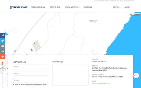 Screenshot of Contact Page travelscape.co.za - Contact Us - captured Oct. 7, 2014