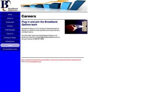 Screenshot of Jobs Page broadbandoptions.com - Careers - captured Oct. 5, 2014