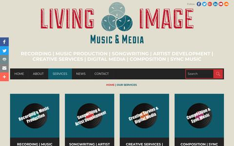 Screenshot of Services Page livingimagemusic.com - Wiltshire & Somerset Music Services - Living Image Music - captured July 21, 2018