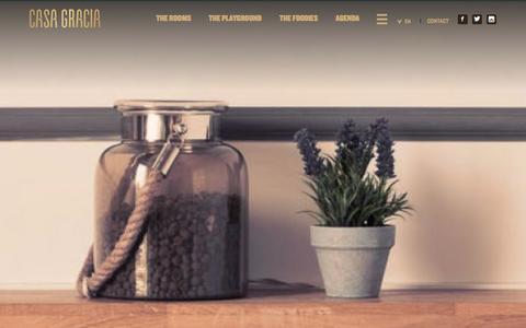 Screenshot of About Page casagraciabcn.com - Company - Casa Gracia Barcelona - captured Jan. 26, 2016
