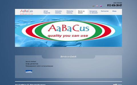 Screenshot of Services Page aabacus.com - Servis və dəstək - AaBaCus - captured Oct. 4, 2014