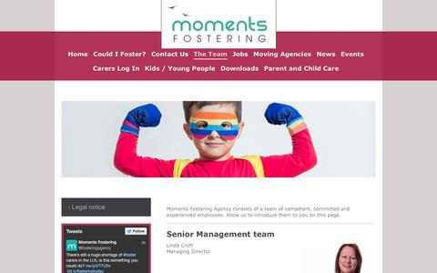 Screenshot of Team Page momentsfosteringagency.co.uk - The Team - captured Oct. 7, 2014