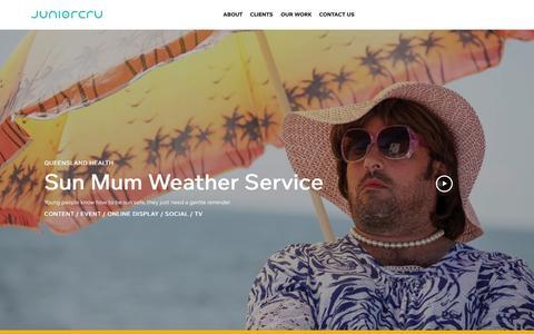 Screenshot of Case Studies Page juniorcru.com.au - Case Studies Archive | JuniorCru | Brisbane Agency | Advertising, Digital, Branding - captured Oct. 29, 2014