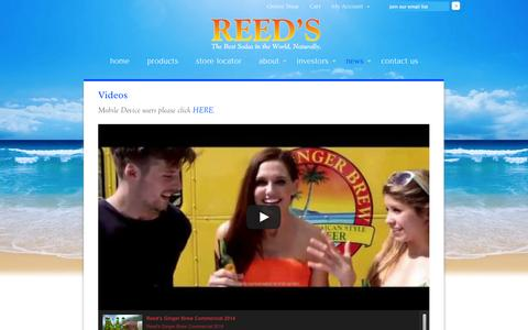 Screenshot of Press Page reedsinc.com - Videos | Reeds, Inc. - captured Sept. 25, 2014