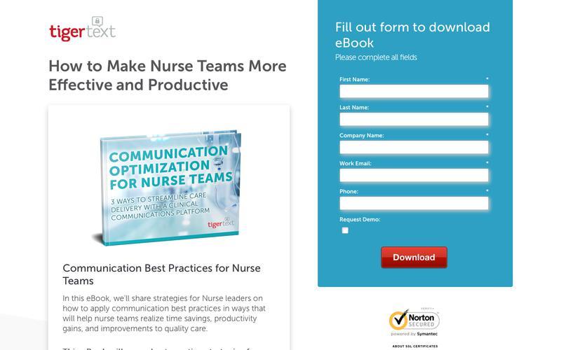 Communication Optimization for Nurse Teams TigerText eBook