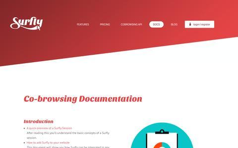 Screenshot of surfly.com - Documentation | Surfly - captured Dec. 9, 2016
