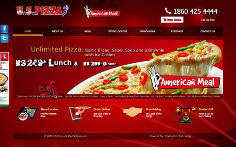 Screenshot of Team Page uspizza.in - Home :: U S Pizza - captured Oct. 1, 2015