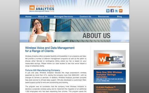 Screenshot of Case Studies Page wirelessanalytics.com - Wireless Voice and Data Management for a Range of Clients | Wireless Analytics - captured Oct. 26, 2014