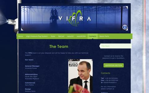 Screenshot of Team Page vifraitaly.com - VIFRA: The Team - Fog System - captured Feb. 14, 2016