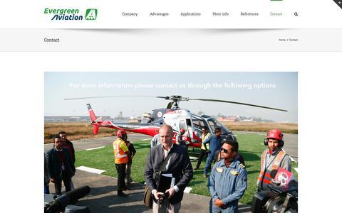 Screenshot of Contact Page evergreenaviation.dk - Contact – Evergreen Aviation - captured July 5, 2017