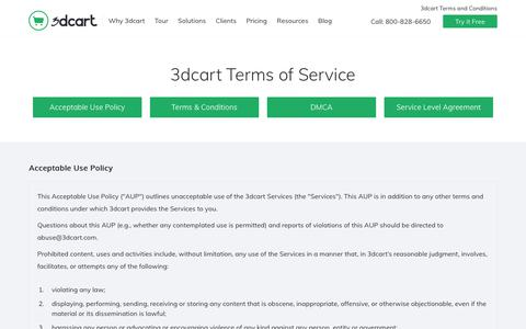 Terms of Service & SLA - 3dcart