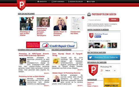 Screenshot of Home Page photoshop-tr.com - Photoshop-TR.com Photoshop Türkçe Dersleri - captured Sept. 22, 2014
