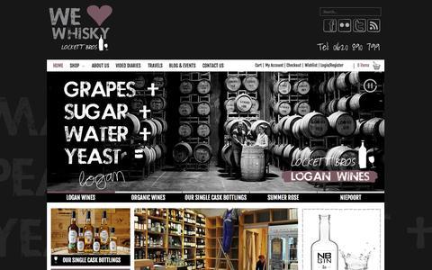 Screenshot of Home Page lockettbros.co.uk - Lockett Bros Scotland | Buy Whisky, Wine, Gin online - captured Sept. 30, 2014