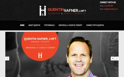 Screenshot of Home Page quentinhafner.com - Orange County Therapy | Orange County Therapist | Orange County Couples Therapy | Orange County Family Therapy - captured Oct. 3, 2014