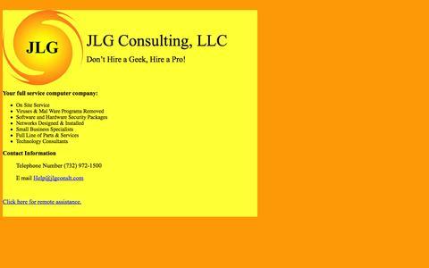 Screenshot of Home Page jlgconslt.com - JLG Consulting - captured Oct. 4, 2014