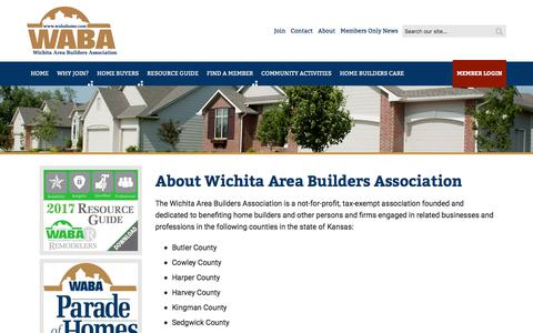 Screenshot of About Page wabahome.com - About Us - Wichita Area Builders Association - Wichita Area Builders Association - captured Nov. 26, 2017