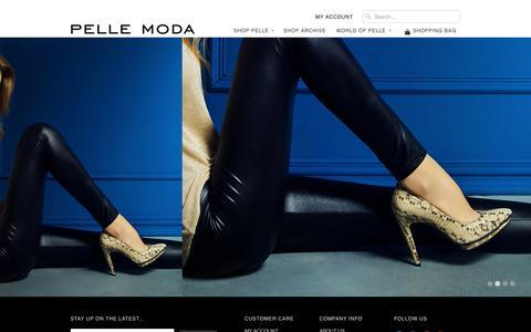 Screenshot of Home Page pellemoda.us - The Official Site of Pelle Moda | Pellemoda.us - captured Oct. 2, 2014