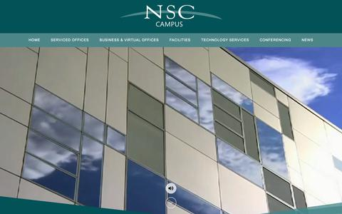 Screenshot of Home Page nsc-campus.com - National Software Centre - Serviced Offices Cork, Conference Venue Cork, Virtual Offices - captured Sept. 21, 2018