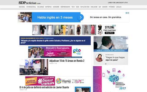 Screenshot of Home Page sdpnoticias.com - SDPnoticias.com - captured June 20, 2017
