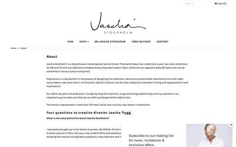 Screenshot of About Page jascha.se - About – Jascha Stockholm - captured Oct. 19, 2018