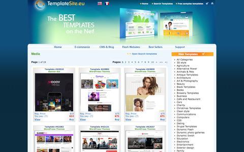 Screenshot of Press Page templatesite.eu - Media  Templates - Media Website Templates - captured July 3, 2017