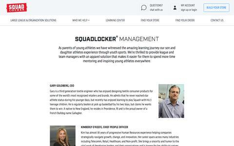 Screenshot of Team Page squadlocker.com - Management | SquadLocker - captured Aug. 1, 2019