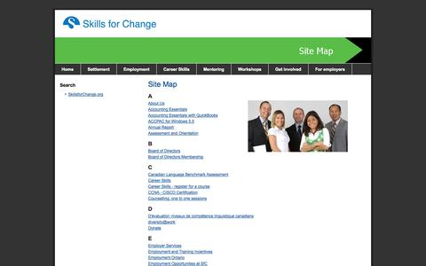Screenshot of Site Map Page skillsforchange.org - Site Map - SiteMap - captured Sept. 30, 2014