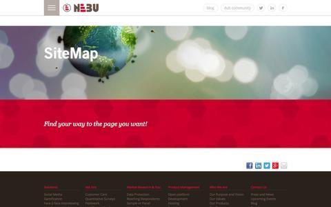 Screenshot of Site Map Page nebu.com - Sitemap - captured Sept. 23, 2014