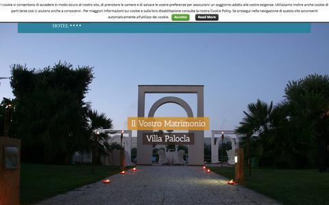 Screenshot of Home Page villapalocla.it - Hotel Villa Palocla **** - Hotel Sciacca - captured Oct. 15, 2015