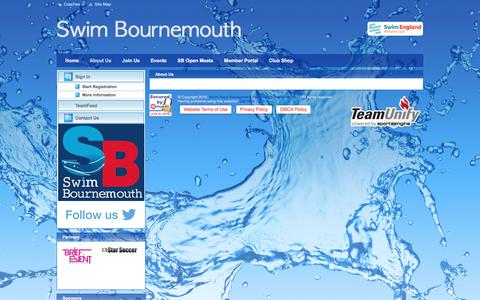 Screenshot of About Page teamunify.com - Swim Bournemouth : About Us - captured Jan. 30, 2018