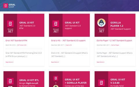 Screenshot of Blog grialkit.com - Grial UI Kit Blog - Grial UI Kit For Xamarin Forms - captured July 9, 2018