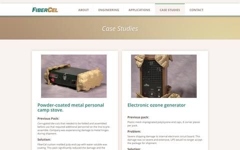 Screenshot of Case Studies Page fibercel.com - FiberCel - Case Studies - captured June 20, 2016