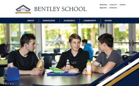 Screenshot of Home Page bentleyschool.org - Bentley School is a K-12, coeducational, independent day school. | Bentley School - captured Sept. 9, 2019