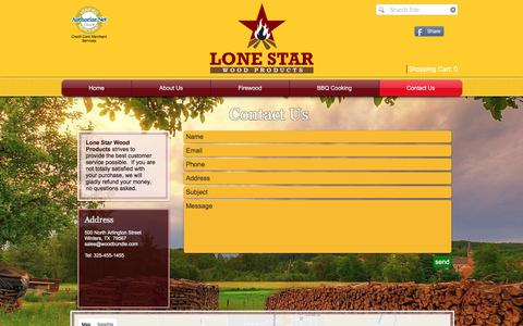 Screenshot of Contact Page woodbundle.com - Lone Star Wood Products - Firewood & BBQ Cooking Wood Delivery   Contact Us - captured Nov. 13, 2016