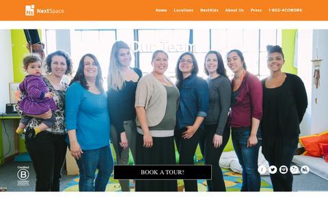 Screenshot of Team Page nextspace.us - Our Staff - captured Nov. 17, 2015
