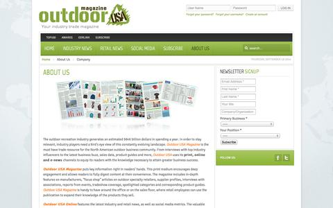 Screenshot of About Page odrmag.com - Company | Outdoor USA Magazine - captured Sept. 19, 2014