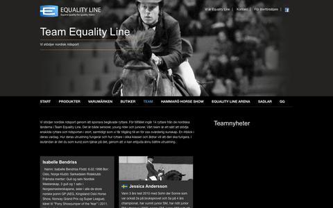 Screenshot of Team Page equalityline.se - Team Equality Line «  Equality Line - captured Sept. 30, 2014
