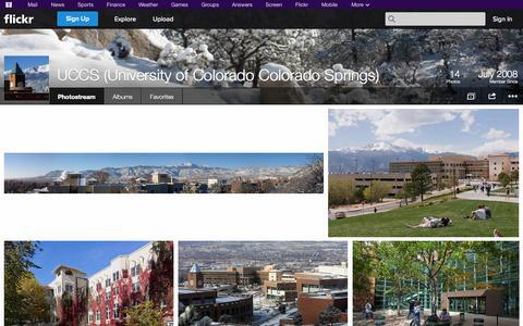 Screenshot of Flickr Page flickr.com - Flickr: UCCS (University of Colorado Colorado Springs)'s Photostream - captured Oct. 26, 2014