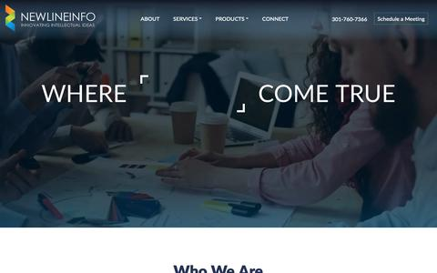 Screenshot of Home Page newlineinfo.com - Software Development Consulting Dallas TX | NEWLINEINFO CORP - captured Oct. 18, 2018