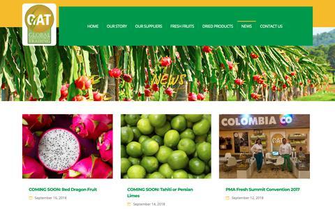 Screenshot of Press Page gat-global.com - News post – Gat Global - captured Nov. 10, 2018