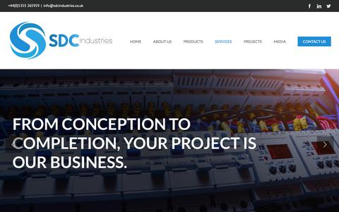 Screenshot of Services Page sdcindustries.co.uk - Services - SDC Industries - captured July 25, 2018