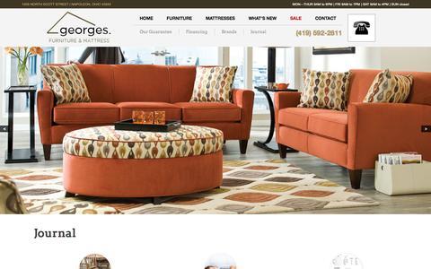 Screenshot of Blog georges-furniture.com - Journal - Georges Furniture & Mattress - captured Oct. 2, 2014